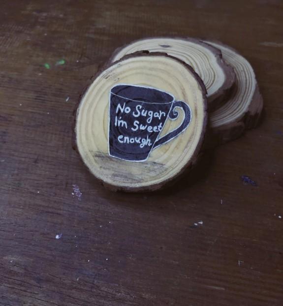 كوستر أكواب خشبي no sugar